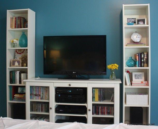 Bedroom Makeover Diy Tv Stand Bookshelf Bookcase Tv