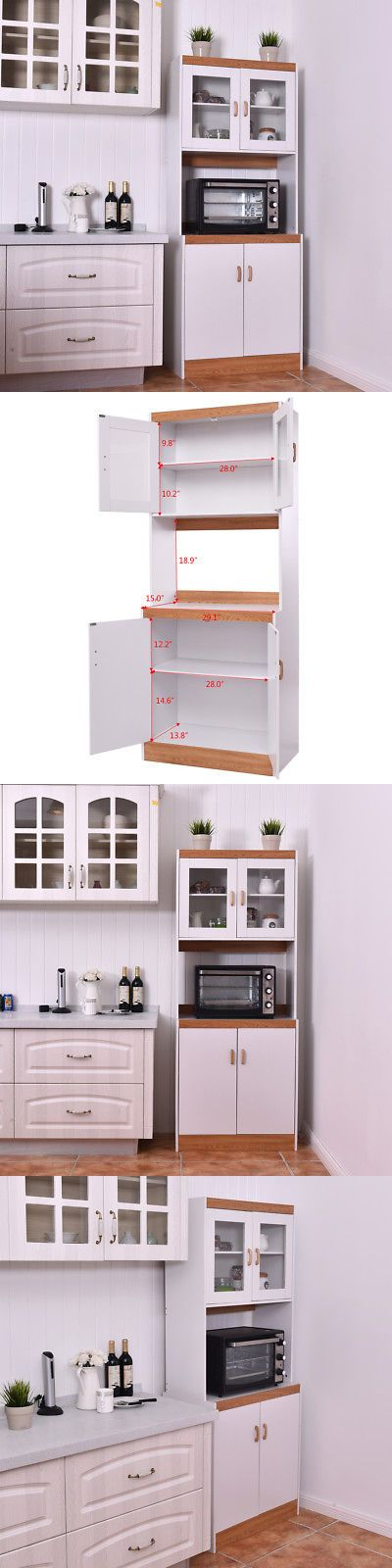 Bakers Racks 20482 Tall Microwave Cart Stand Kitchen Storage