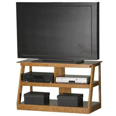 Eagle Furniture Manufacturing Adler 55 Tv Stand Finish Medium Oak Width Of 24 H X 42 W 18 D
