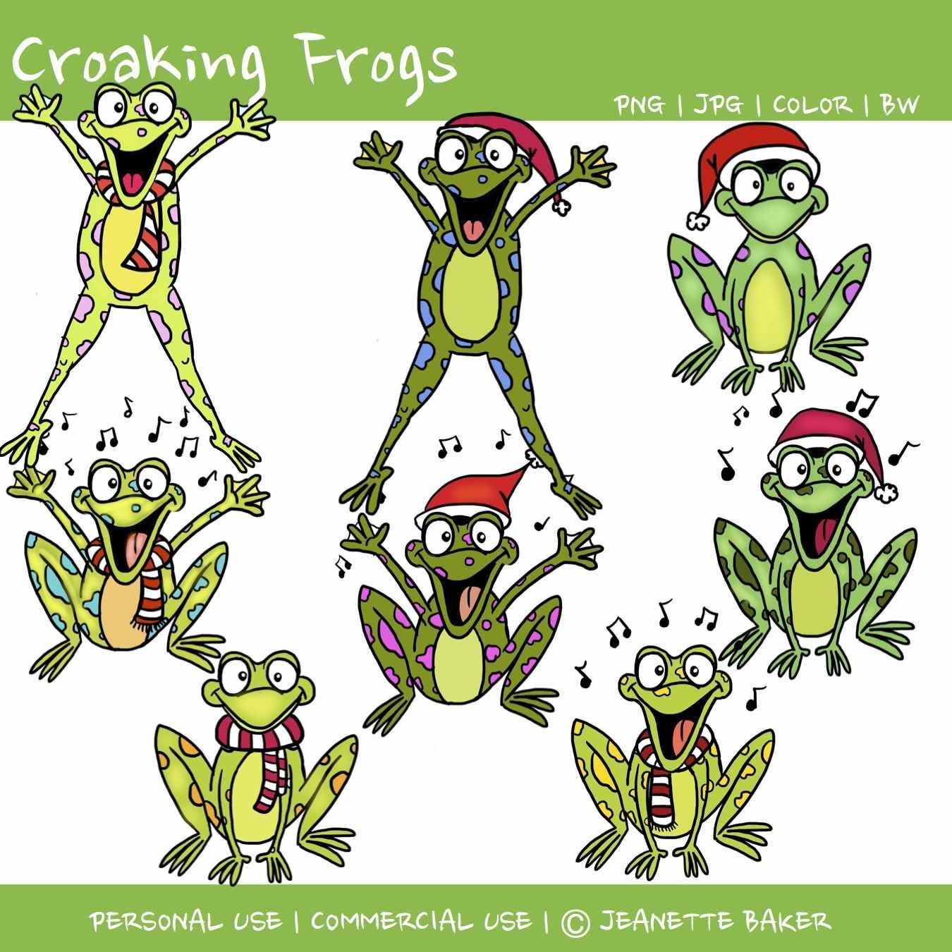 2 croaking frogs by jeanette baker [ 1350 x 1350 Pixel ]