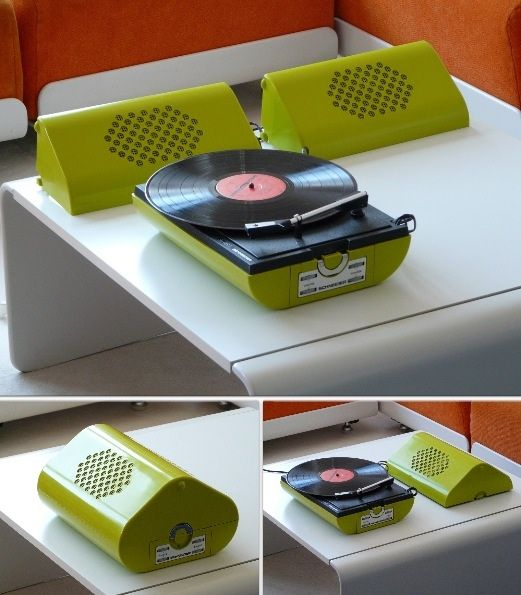 1970s Schneider Record Player Record Players