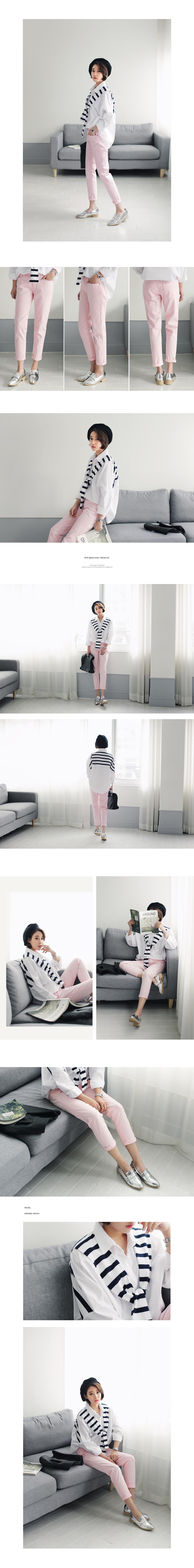 2204パステルスリムラインパンツ・全4色パンツ・ズボンパンツ・ズボン|レディースファッション通販 DHOLICディーホリック [ファストファッション 水着 ワンピース]