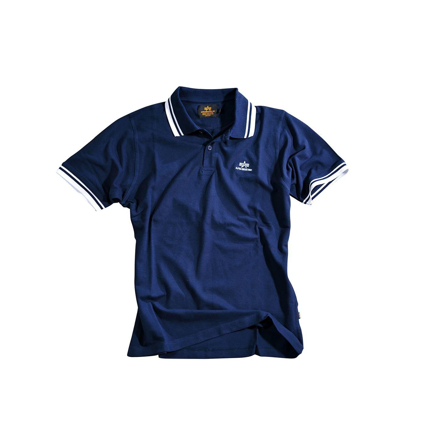 """Produktbeschreibung:      - Alpha Industries Polo """"Twin Stripe Polo"""" aus Cotton Piquet    - Logo Stick auf der Brust     - 2 Farbig     - Rundhals        Passform & Größenlauf:      - Normale Passform ( Standard Fit )     - Erhältlich in den Größen: S - 3XL        Material & Pflege:      - Oberstoff : 100% Baumwolle     Pflegehinweis: Maschinenwäsche     ..."""