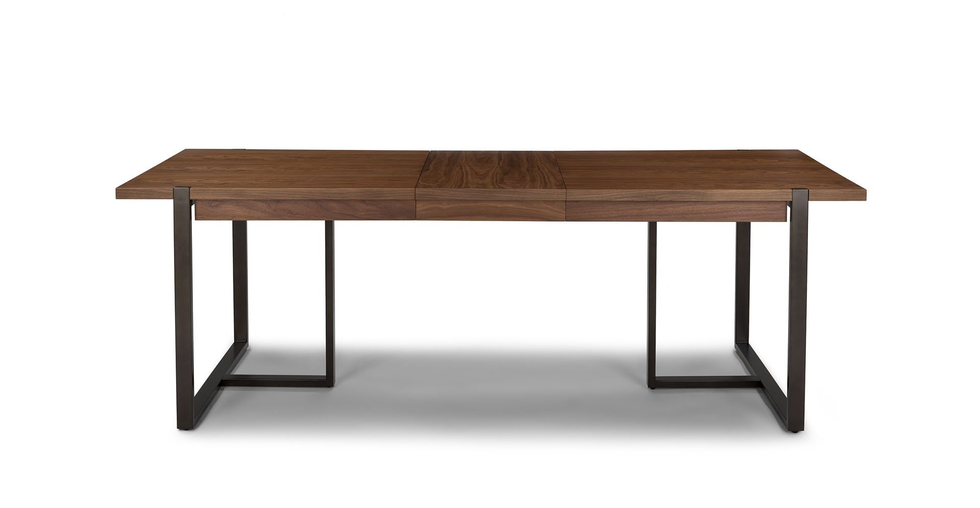 Oscuro Walnut Extendable Dining Table Contemporary Dining Table