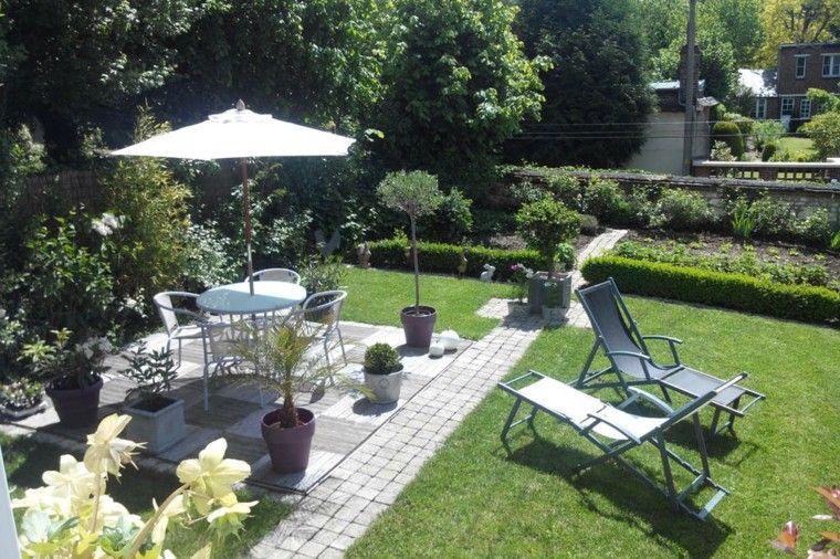 diseo de jardines pequeos con muebles de comedor - Diseo De Jardines Pequeos