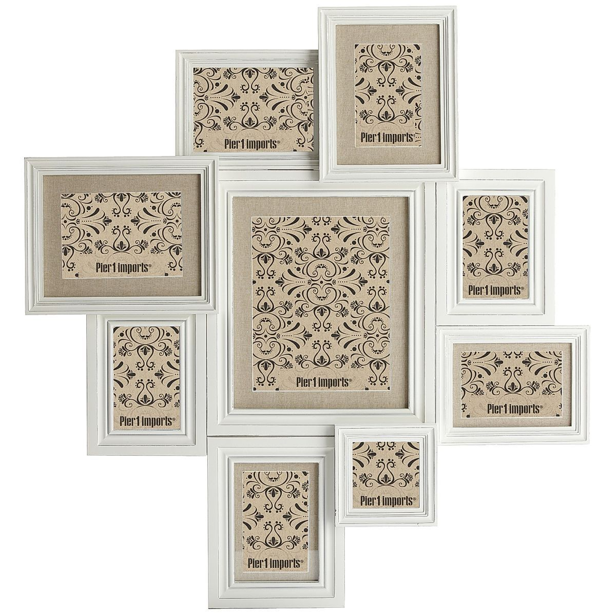 Savannah White Collage Photo Frame | Wall collage, Wooden frames and ...