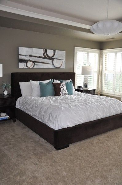 Blue And Brown Bedroom Ceiling Paint Color All The Way