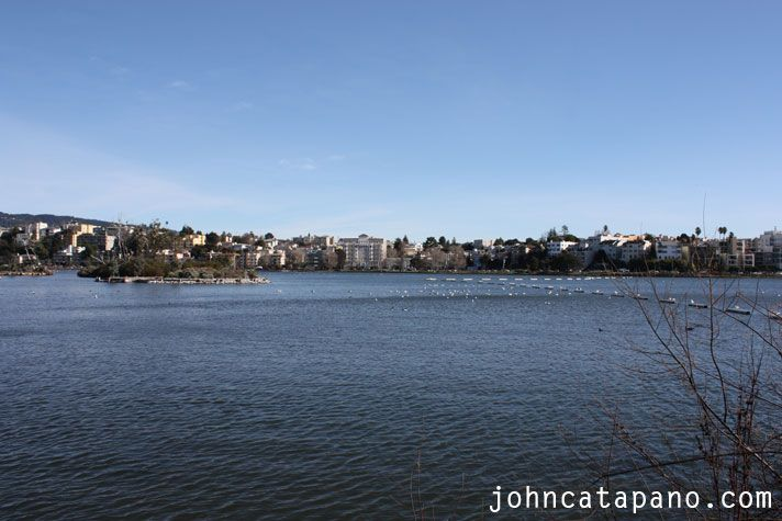 View Across Lake Merritt.  Oakland, California.  Image No. 0035.  Tags: #blue, #lakemerritt, #landscapes, #nature, #oakland, #WallArt, #canvas