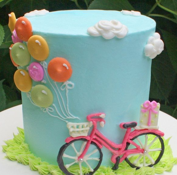 Bike and Balloons Cake