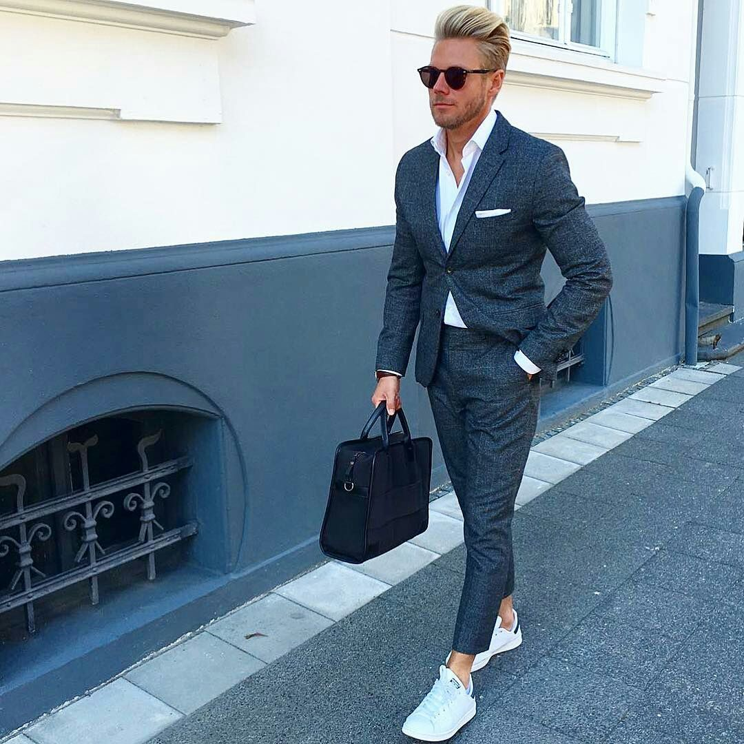 How To Dress Up Your Sneakers Men S Fashion Blog Ps Pinterest