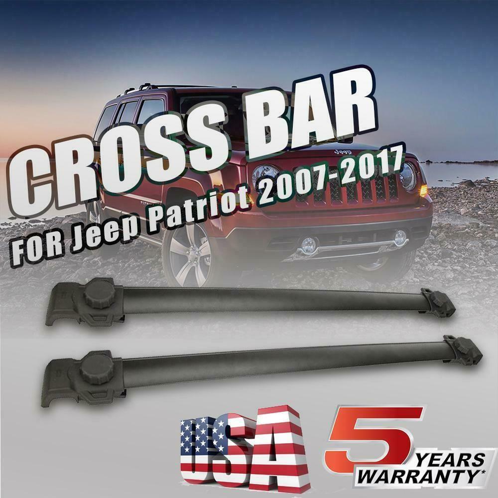 Ebay Sponsored For 2007 2017 Jeep Patriot Top Roof Rack Cross Bars Cargo Carrier Aluminum Black Jeep Patriot Cargo Carrier Roof Rack