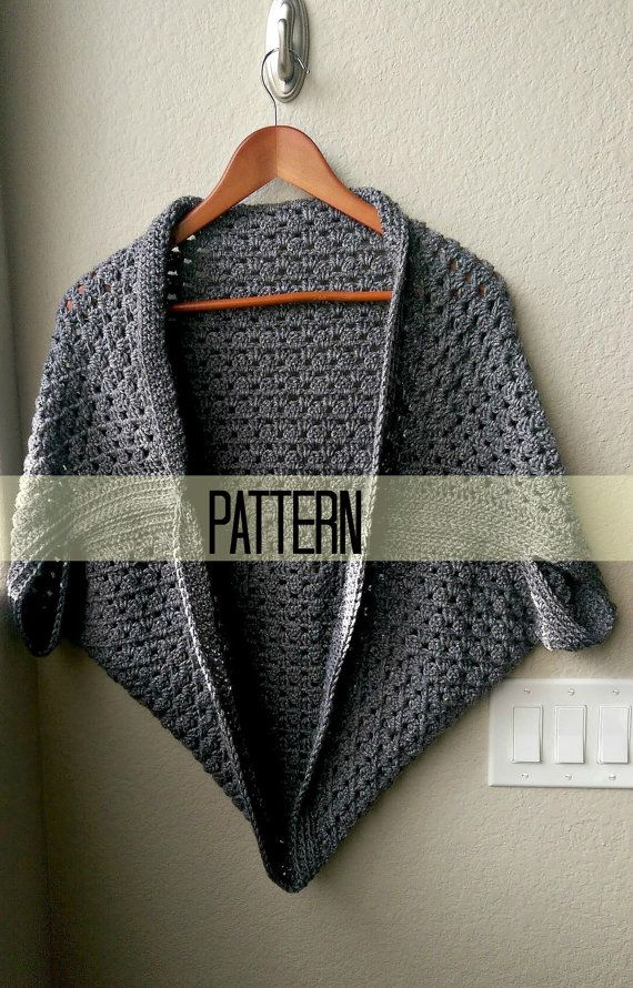 Granny Square Shrug Crochet Pattern, Chunky Crochet Shrug Pattern ...