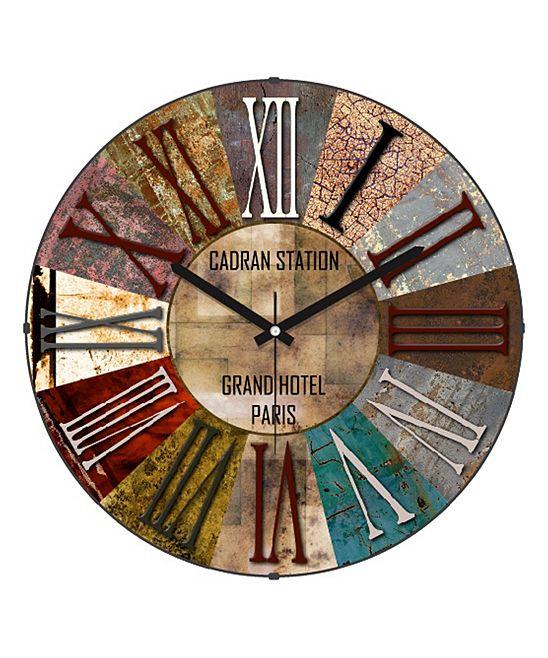 Grand Hotel Paris Roman Numerals Wall Clock Reloj
