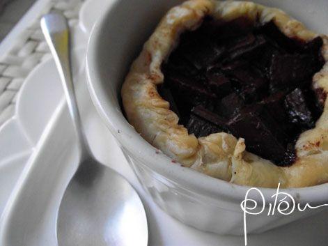 Tortinha de Pera e Chocolate da Katita.