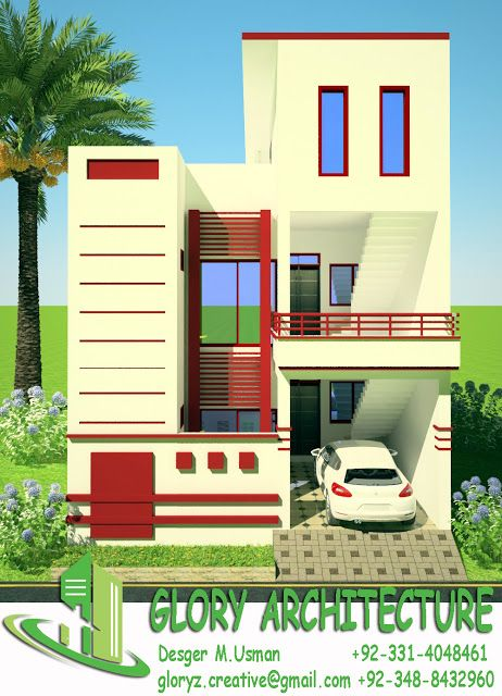 Free Duplex House Design: Pin By Glory Architecture On 25x45 House Plan Elevation