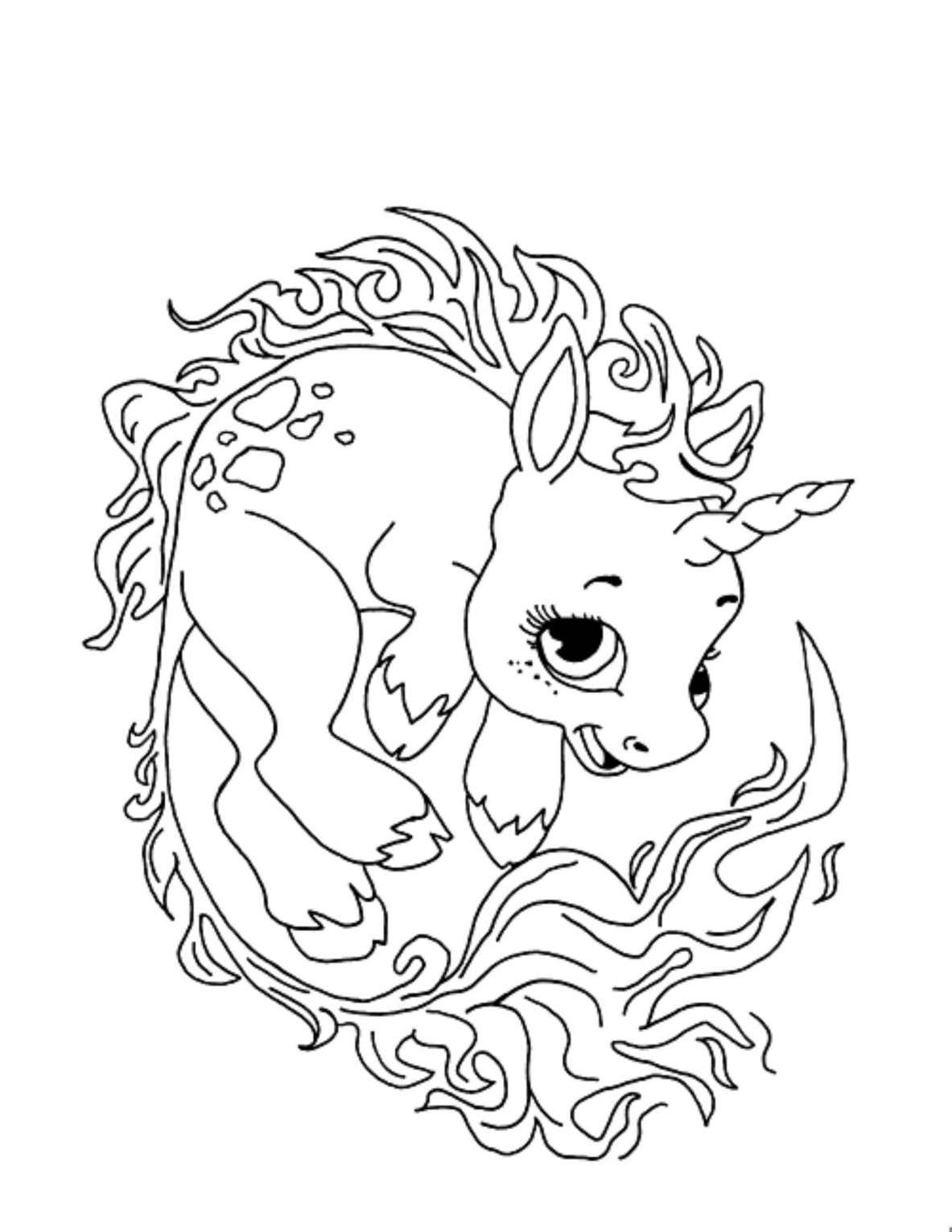 16 Fire Unicorn Coloring Page For Kids Coloring Page Dinosaurus
