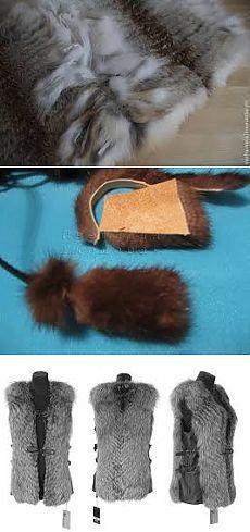 изделия из кусочков меха своими руками - Поиск в Google