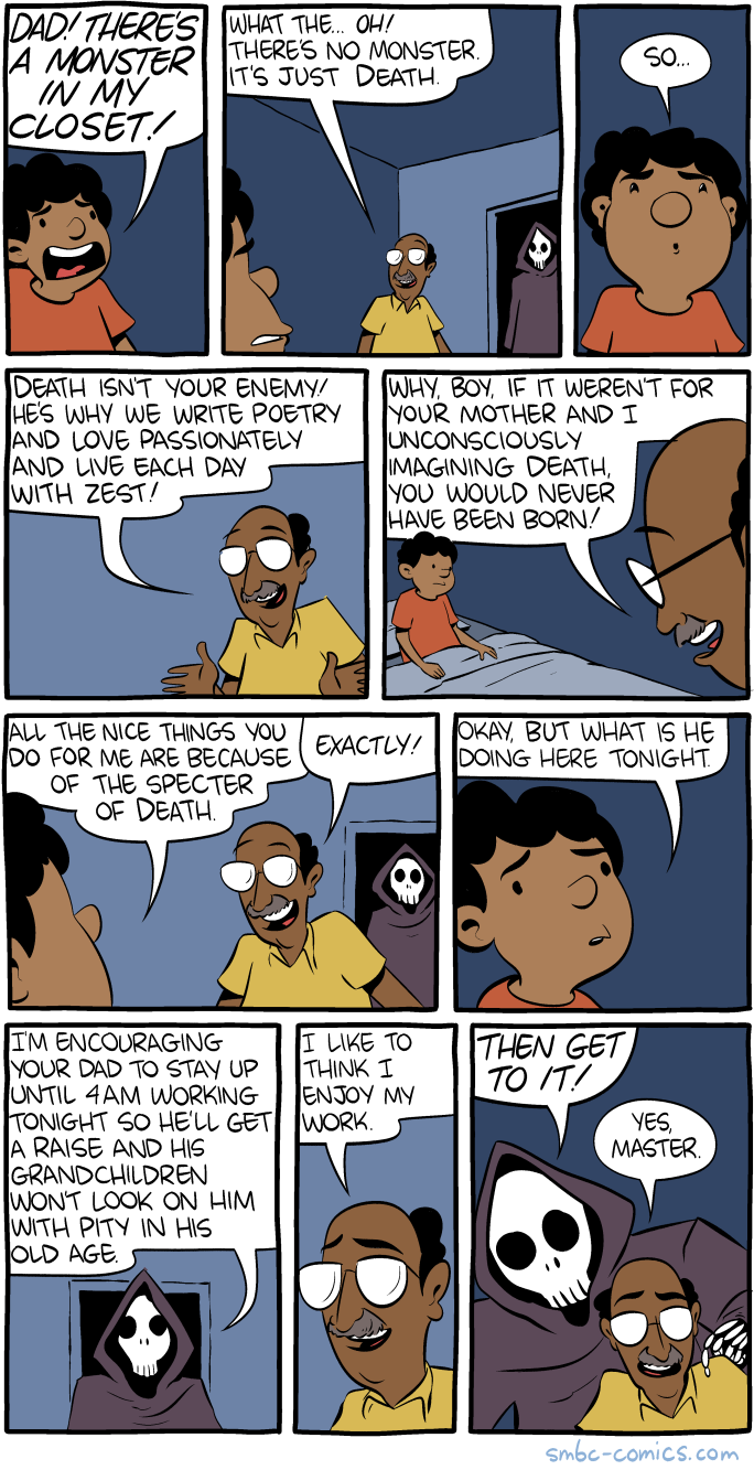 Before You Ask No This Comic Was Completed At 2am 4am Is When Workaholics Go To Bed Smbc Comics Anime Jokes Funny