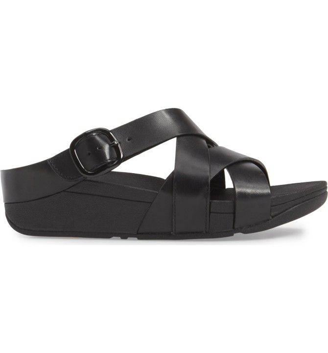 c55543d73e473f Main Image - FitFlop®™ The Skinny Crisscross Slide Sandal (Women ...