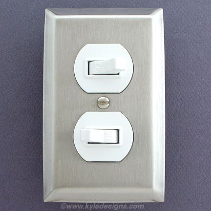 Stainless Steel Light Switch Plates, Outlet Covers, Rocker Switchplates  kitchen  Light switch