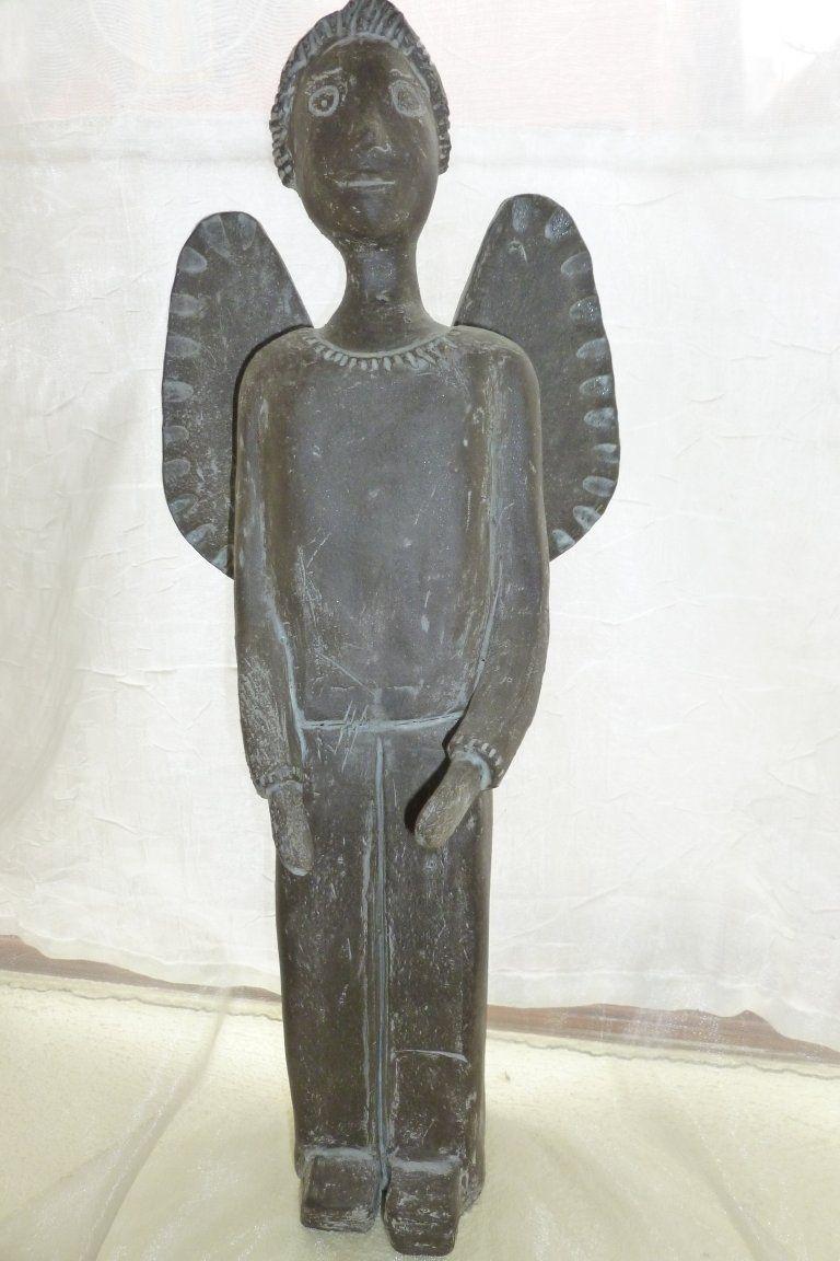 kramik skulptur engel skulpturen tuttis welt cly pottery sculpturing art angel crafts haus. Black Bedroom Furniture Sets. Home Design Ideas