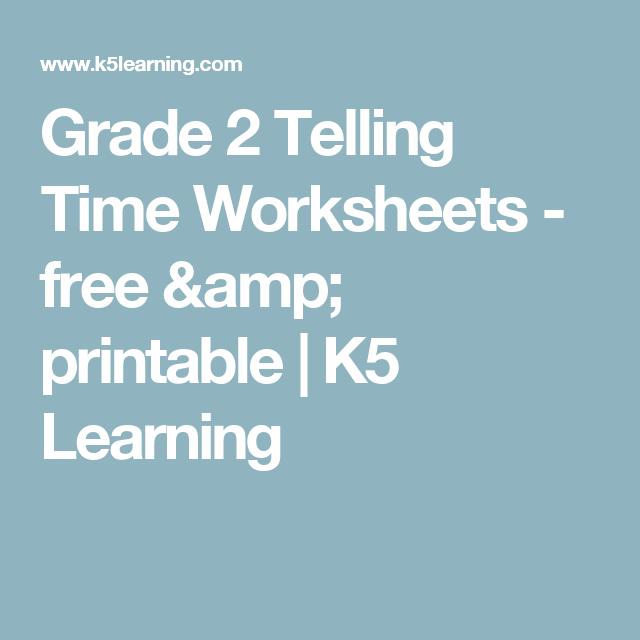 Grade 2 Telling Time Worksheets - free & printable   K5 Learning ...