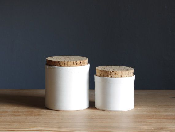 Porcelain and cork canister set inredning pinterest for Hearth and home designs canister set