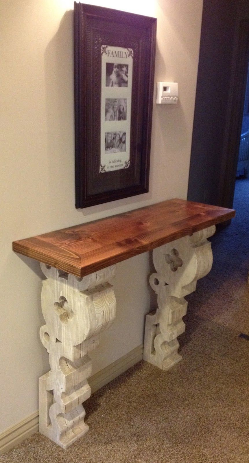 Dad Built This Corbel Entry Table This Guy Is A Diy Rock