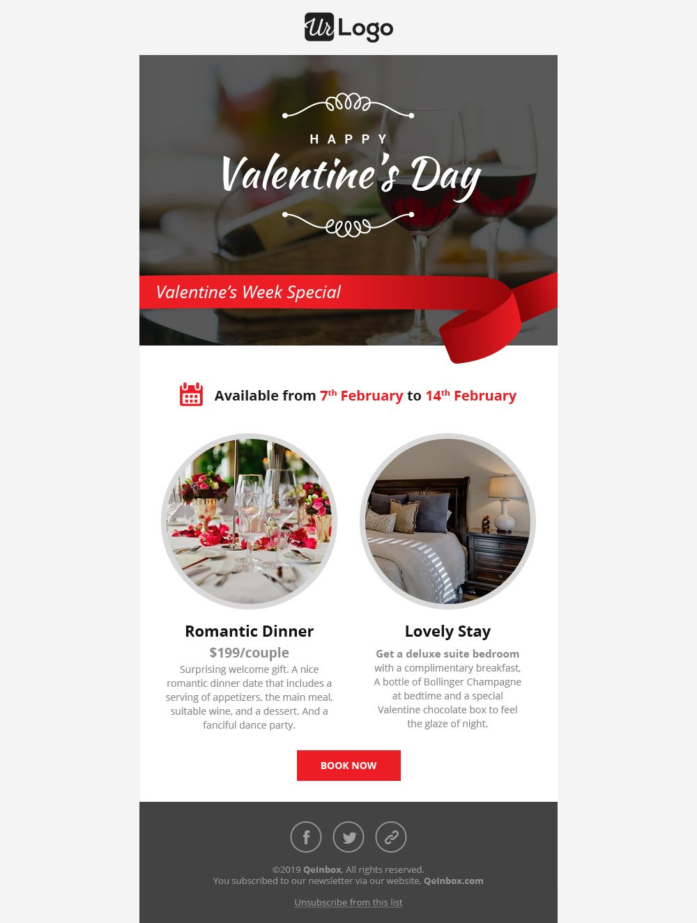 Valentine S Day Email Templates Email Templates Free Email Templates Responsive Email Template