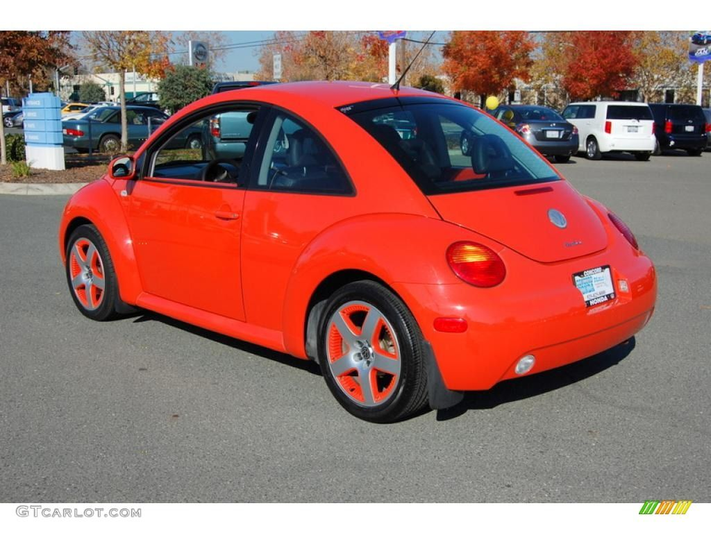 2002 volkswagen new beetle special edition snap orange color concept coupe snap orange color