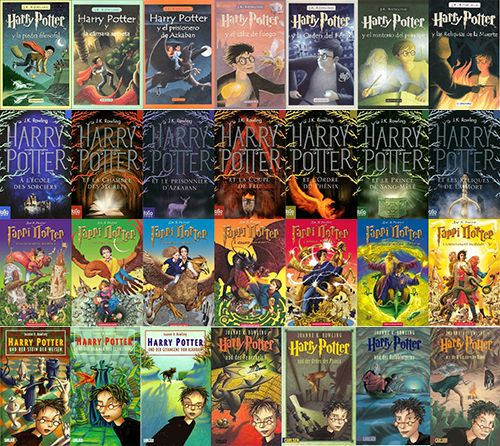 Harry Potter Books Covers From Around The World Harry Potter