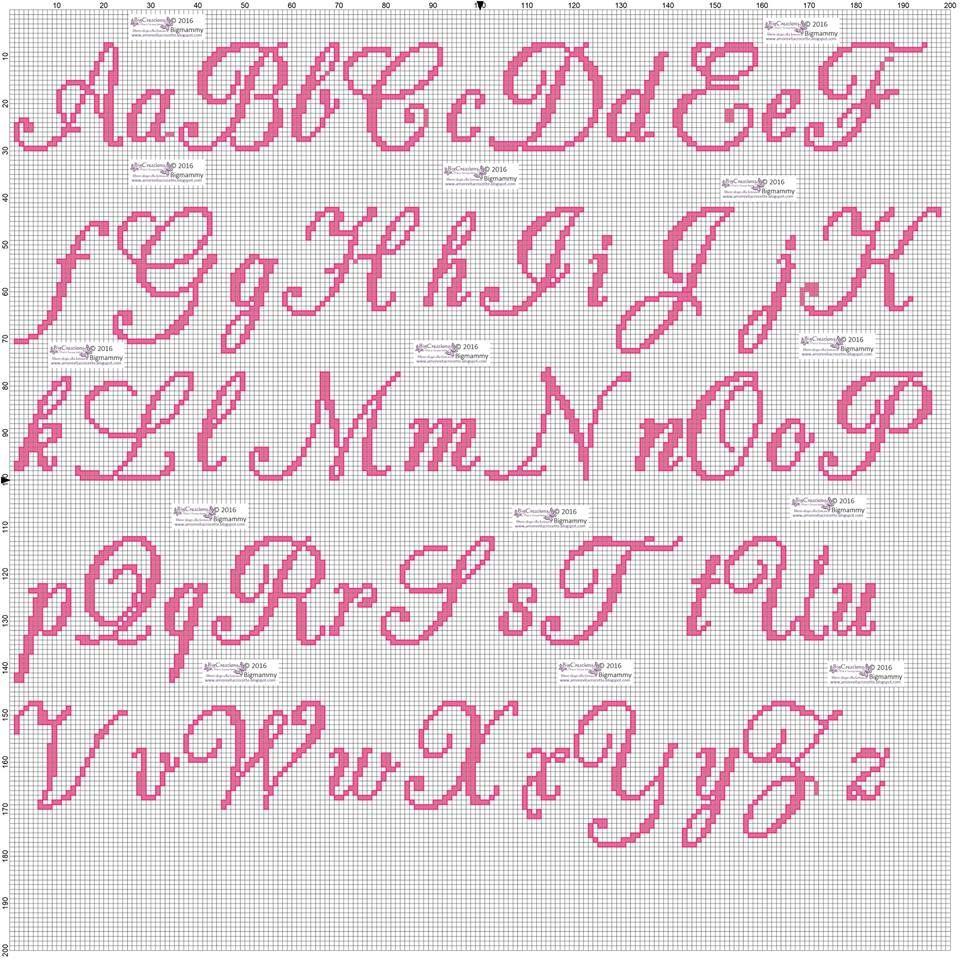 Pin su alfabeti e nomi for Ricamo punto croce lettere