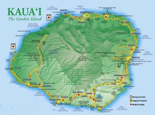 Koloa Heritage Trail Map Kauai Hawaii
