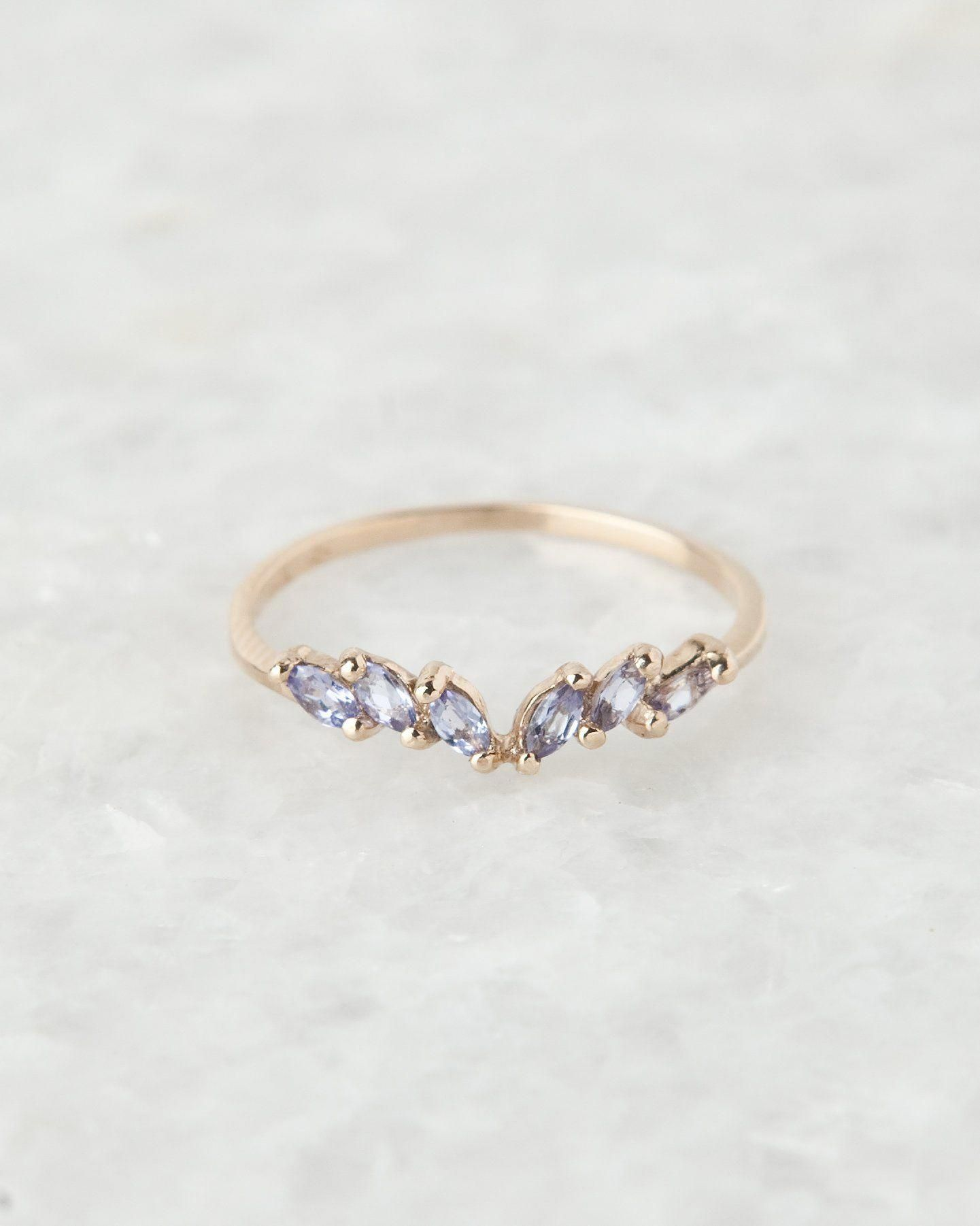 Customized Gold Crown Band Matching Band Anniversary Gift for Her Band for Women Supporting Gold Band Marquise Shape Crown Wedding Band