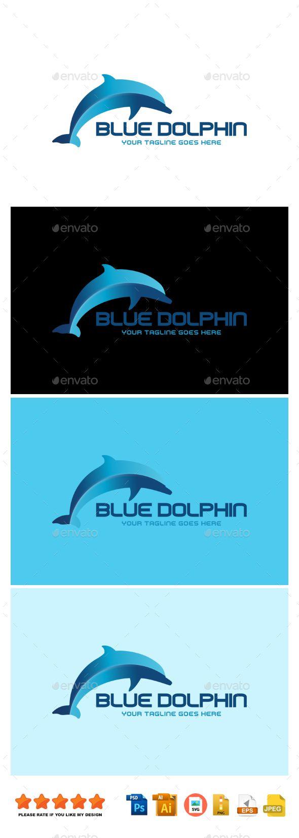 Blue Dolphin | Pinterest | Logo templates, Logos and Template