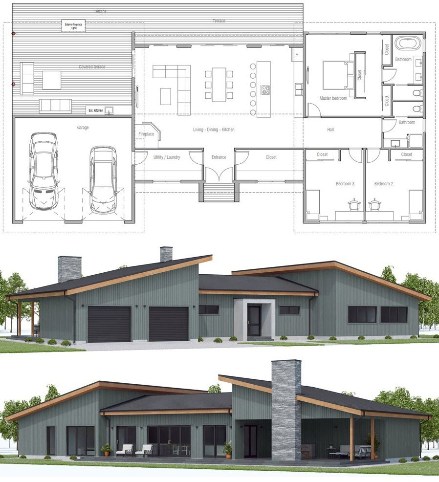 House Floor Plan Ch571 House Plan Gallery Residential Architecture Dream House Plans