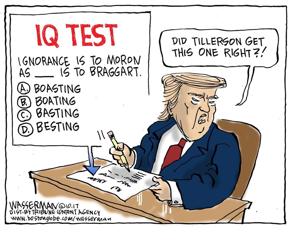 13 Political Cartoons On Trump Tillerson And Other Current Events