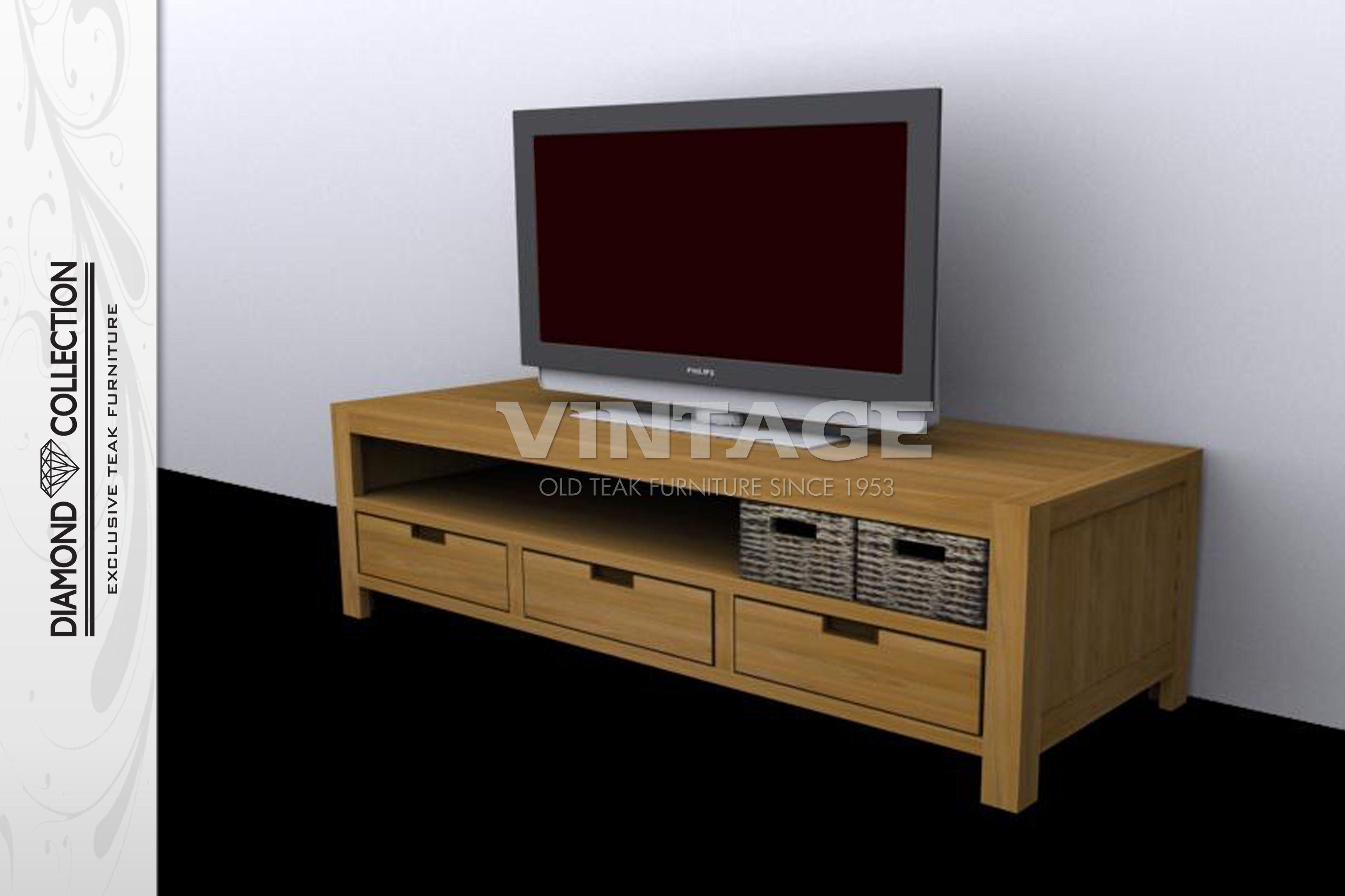 Teak tv meubel vintage line tv meubel