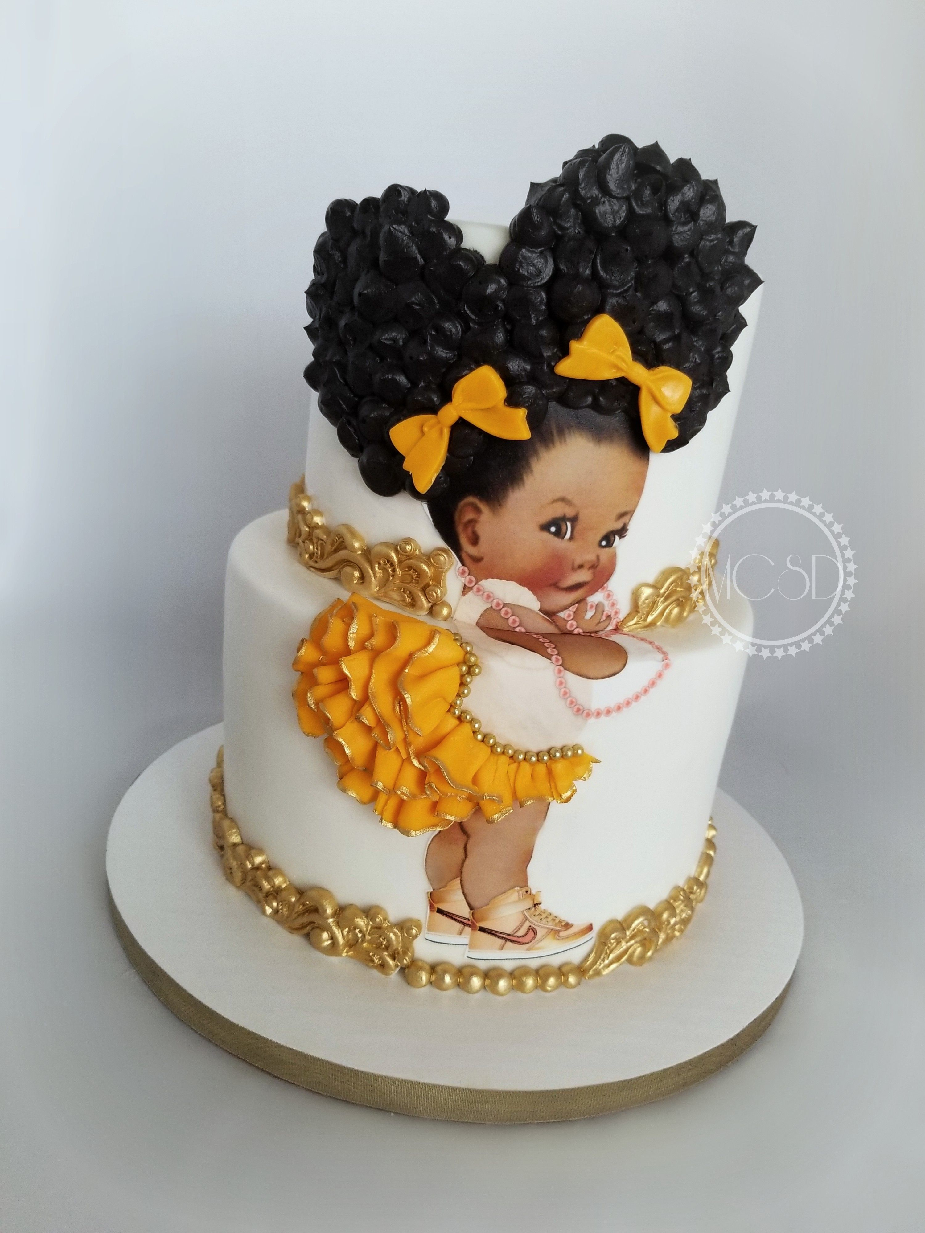 Afro Puff Baby Shower Cake My Cakes 2017 Pinterest