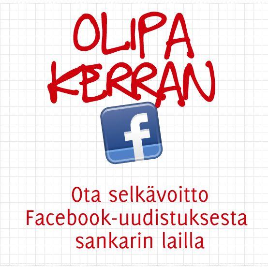 Ota selkävoitto Facebook-uudistuksesta sankarin lailla