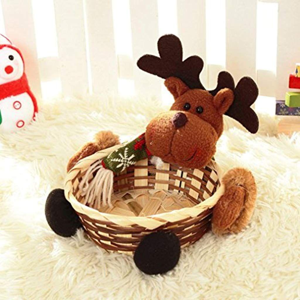 Cinnamou cestino natalizio porta dolciumi cestino regalo con decorazione di Babbo Natale della pelle trattamento occhi e rollon della pelle trattamento occhi della pelle