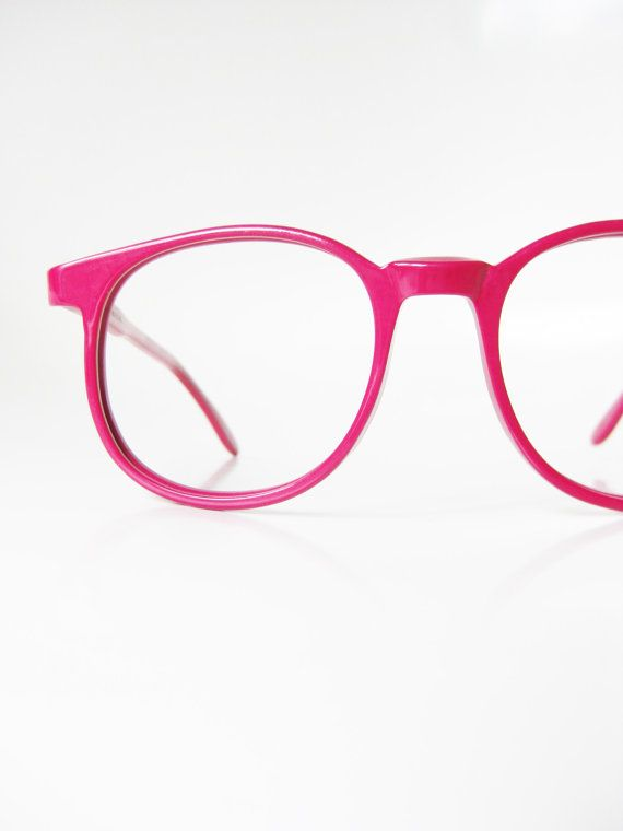 7b0fc13f408 Vintage Pink Eyeglasses 1960s Round Designer Eyeglass Frames Hand Made 60s  Round P3 Tart Optical Raspberry Geek Chic
