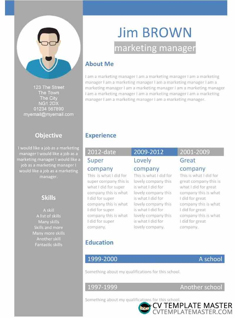 Free Creative Profile Word Cv Template Cv Template Master With Regard To Another Word For Template Cv Template Professional Templates Creative Cv Template