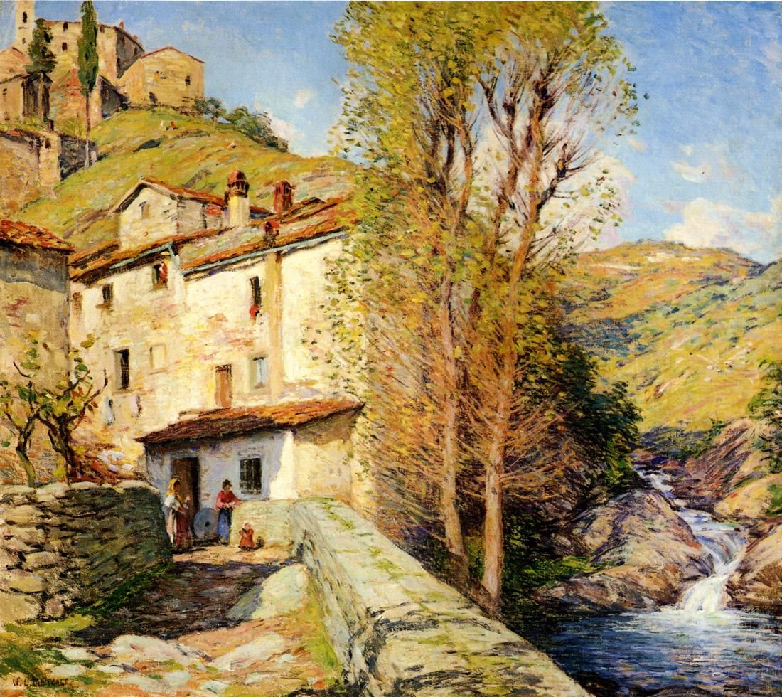 Old Mill Pelago Italy 1913 Italy Painting American Impressionism Canvas Art Prints