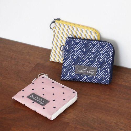 Comely pattern half zip around wallet  3506af0ebb7c1