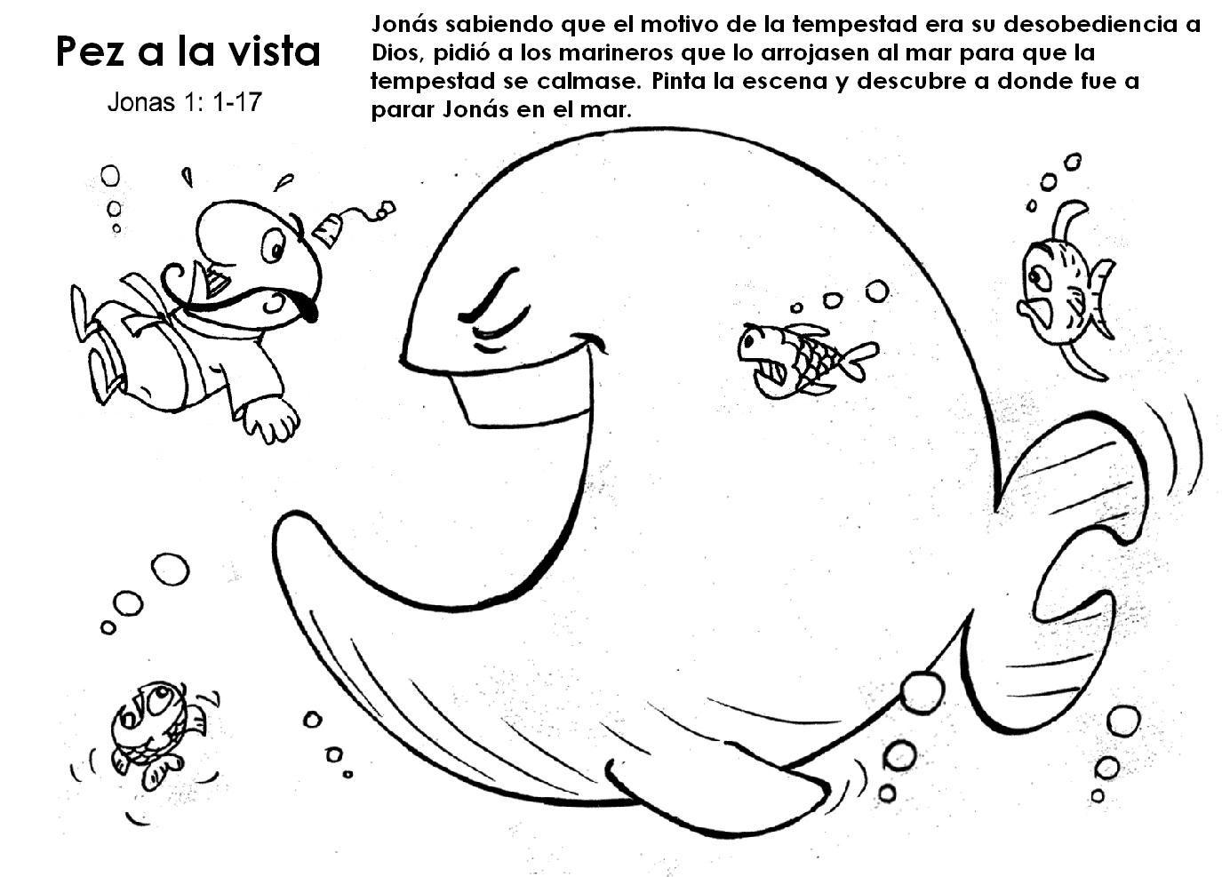 Actividades para trabajar la historia del libro de Jonás Dibujos ...