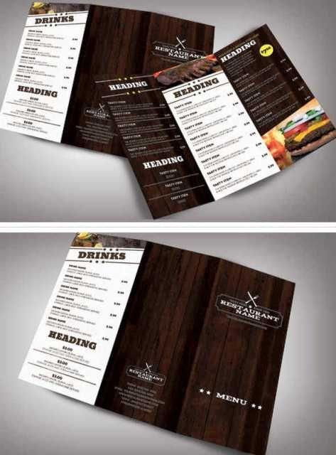 Desain Brosur Restoran  Brochure  Pamphlet Designs