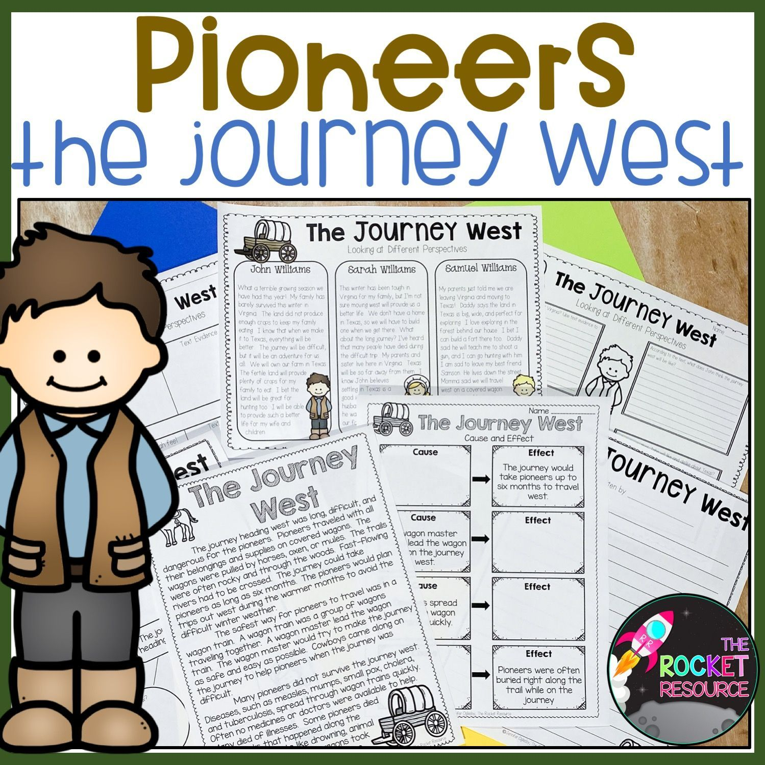 Pioneer Life Text And Activities Math Skills Practice Engaging Lessons Social Studies Classroom [ 1499 x 1499 Pixel ]