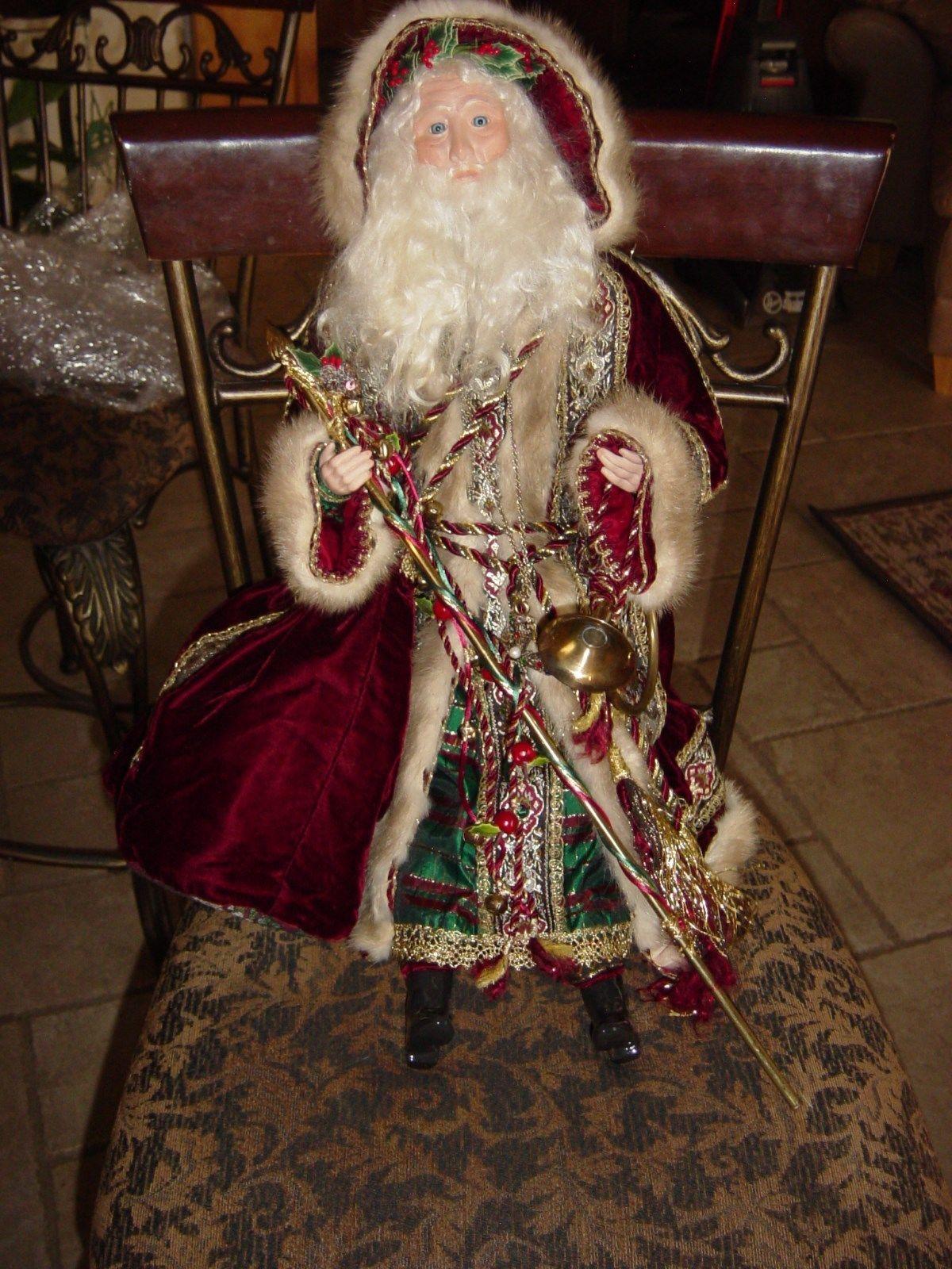 fa4d3e94ed Beautiful Ornate Father Christmas Victorian Santa Claus Porcelain Doll