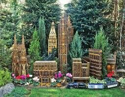new york botanical gardens hosts a stunning train show each year with intricate replicas of nyc buildings - Bronx Botanical Garden Train Show